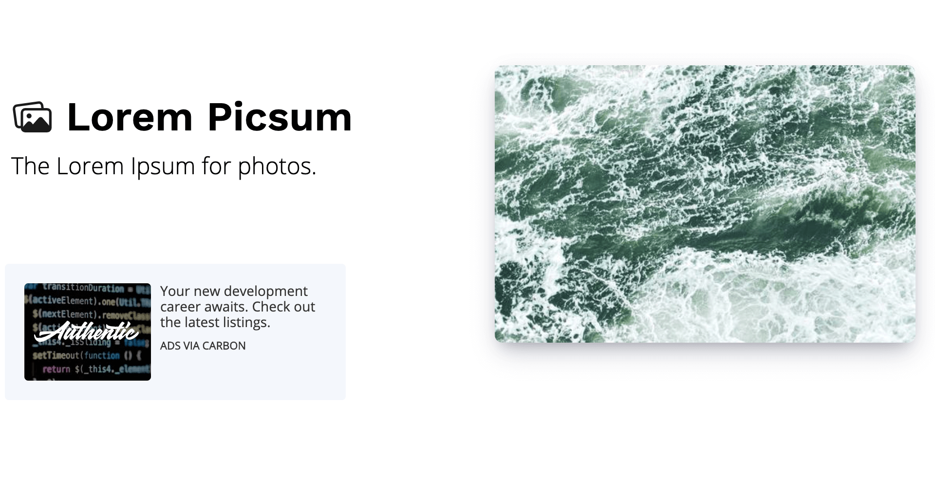 Lorem Picsum